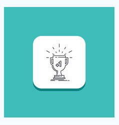round button for award trophy win prize first vector image
