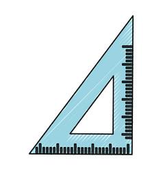 Ruler school utensil vector