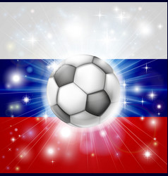 Russian soccer flag vector