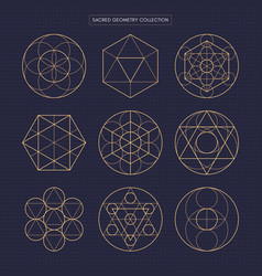 Sacred geometry original outline non expanded vector