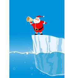 Santa on iceberg vector image
