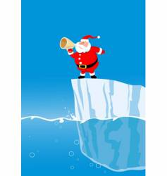 Santa on iceberg vector image vector image