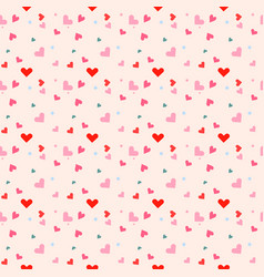 seamless pattern with colorful hearts and light vector image
