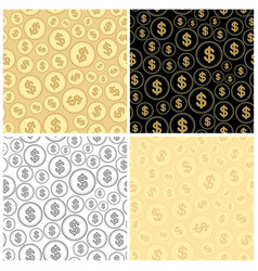 set of backgrounds with dollars - finance vector image