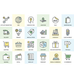 Shopping and Commerce Icons 1 vector