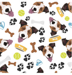 Smiling dog jack russell terrier vector