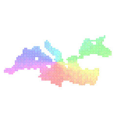 Spectrum mediterranean sea map vector