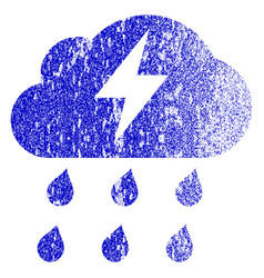 Thunderstorm grunge textured icon vector