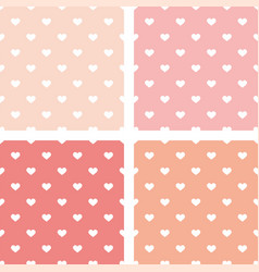 tile pattern with white hearts on pink background vector image