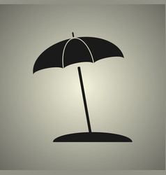 Umbrella icon in flat design vector