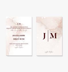Wedding invitation card set beige texture save vector