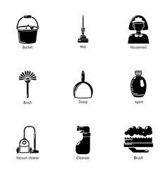 wipe away icons set simple style vector image