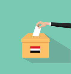 yemen vote election concept with vector image vector image