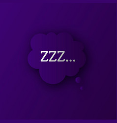 Zzz sleep sound vector