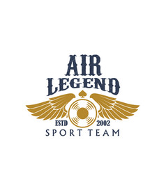 aviaton sport air legend propeller icon vector image vector image