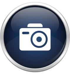 Blue photo icon vector image vector image