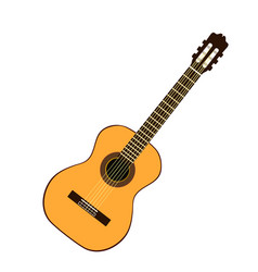 classic yellow guitar vector image