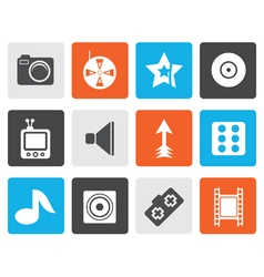 Flat Entertainment Icons vector image vector image