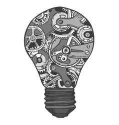 Gears lightbulb sketch vector image vector image