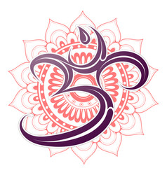 om symbol with mandala vector image