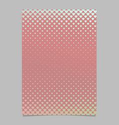 retro gradient heart pattern flyer template vector image vector image