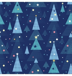 Abstract holiday Christmas trees seamless pattern vector image vector image