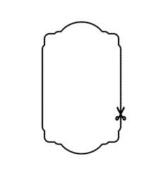 banner frame sticker scissors icon graphic vector image vector image