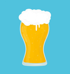 glass of beer modern flat style vector image