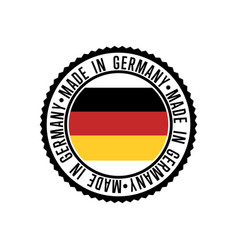 made in germany round rubber stamp for products vector image