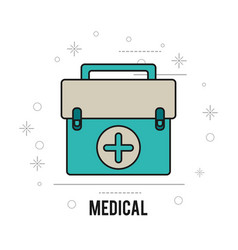 medical equipment first aid health care vector image