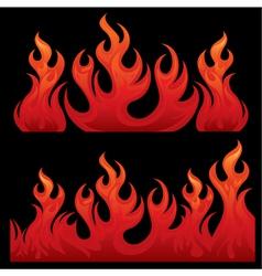 Seamless Flaming teksture vector image