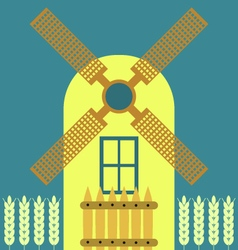 Windmill modern flat icon traditional dutch style vector image vector image