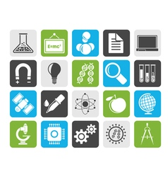 Silhouette Science Research and Education Icons vector image