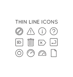 Thin Line Icons vector image