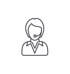 Avatar businesswoman thin line icon linear vector