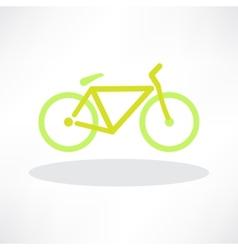 Bicycle Icon Symbol vector image vector image