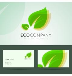 Ecological company logo design vector image