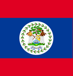 flag belize flat icon vector image