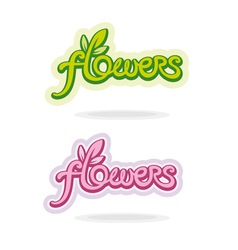 Flowers handwritten word vector image