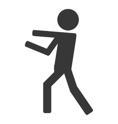 Icon of person fight boxing vector image