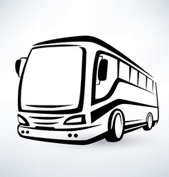 Modern bus symbol outlined icon vector