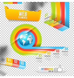 Modern Design Template with World Map vector image vector image