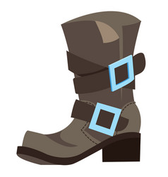 old mens boots cartoon drawing for gaming mobile vector image vector image
