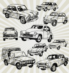 oldcars vector image vector image