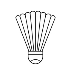 Shuttlecock icon in outline style vector image vector image