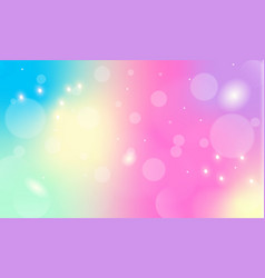 Abstract iridescent background with bokeh vector