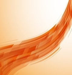 Abstract orange wave technology background vector