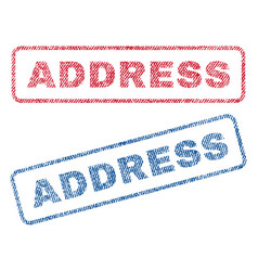 Address textile stamps vector
