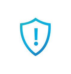 attention warning attacker alert shield sign with vector image