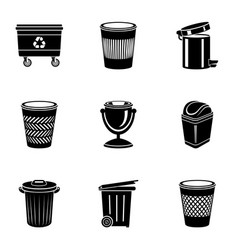 basket icons set simple style vector image